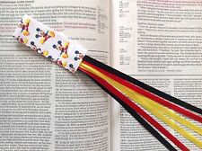 bookmark ribbons multi page kids Bible, hardcover books MICKEY MOUSE handmade