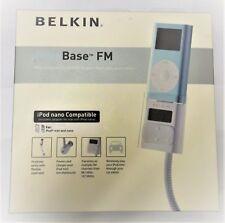 BELKIN TUNE BASE FM IPOD NANO MINI POWER CHARGER HOLDER FM TRANSMITTER