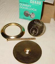 "1 GUARD SECURITY SOLID BRASS DUMMY KEY CYLINDER 2"" DOOR LOCK HARDWARE 160 NOS"