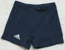 "Adidas Climalite Blue White Athletic Shorts Small 24"" x 3.5"" Polyester Spandex"