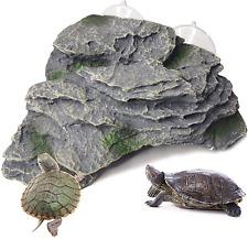 New listing kathson Turtle Basking Platform Tortoise Climbing Ramp Shale Reptiles Dock Resti