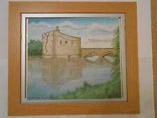 Peinture à l'huile carrigadrohid Castle Irlande sur une toile de David Willis TV DEMO