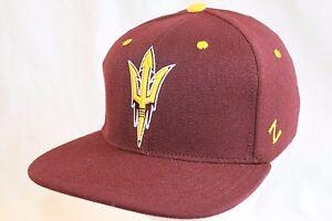"Arizona State Sun Devils Hat Cap  ""Maroon Forks Flatbill Cap "" Zephyr NCAA Hats"