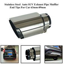 Stainless Steel  Auto SUV Exhaust Pipe Muffler End Tips Trim For Car 63mm-89mm