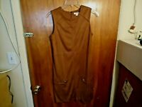 "Womens Simply Noelle Size XS (4-6) Brown Sleeveless Dress "" BEAUTIFUL DRESS """