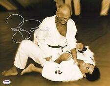 Royce Gracie Signed 11x14 Photo PSA/DNA COA UFC Pride Jiu-Jitsu Picture w/ Helio