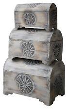Truhe Schatzkiste Holzkiste Kiste Box zur Aufbewahrung in 3 Größen