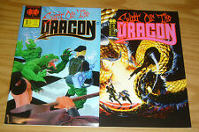 Spirit of the Dragon #0-1 VF/NM complete series - double edge - indy comics set