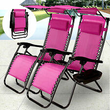 New Zero Gravity Chairs Case Of 2 Lounge Patio Chairs With Canopy Cup Holder
