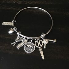 I Love My Hair Stylist Hair dresser Beautician Scissors Charm Bracelet Gift 2