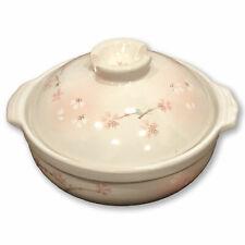 Japanese Premium Ceramic Sukiyaki / Hot Pot for 3-4 People - Cherry Blossom No.8