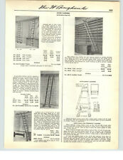 1941 PAPER AD Richards Wilcox Rolling Store Library Ladders Diagram