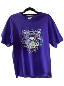Kenzo Mens T Shirt. NWOT Print Logo. Size XL. Purple.