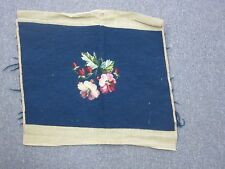 "Vintage Hand Made Needlepoint 13""x19"" Nicely Hand Stitched  Older Finer piece"
