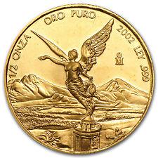 2002 Mexico 1/2 oz Gold Libertad BU - SKU #63784