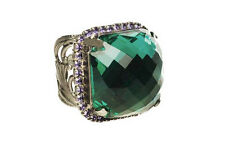Northern Lights Collection, Emerald Green Crystal Adjustable Ring By Sorrelli