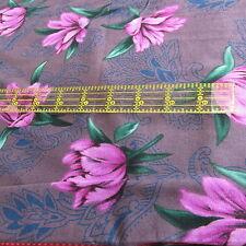 Alexander Henry PURPLE tropical floral tonal cotton fabric half yard cut 1/2