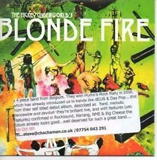 (AF142) The Hickey Underworld, Blonde Fire - DJ CD
