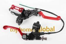 Red Brake Master Cylinder Reservoir levers set For Honda CRF250X CRF230F SL230
