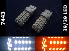 Type 1 7443 7443NA 7444 White Amber Switchback 39/39 Led Front Signal Light Bulb