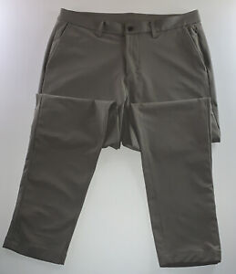 Men's Lululemon Activewear Athliesure Logo Commuter Pants Khaki Size 38