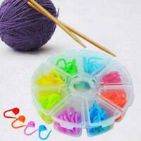 Lots 104 pcs Knitting Crochet Locking Stitch Needle Clips Markers Holder Tools