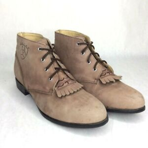Ariat Advanced Torque Stabilizer Lace Up Brown Leather ATS Low Ankle Womens 9.5