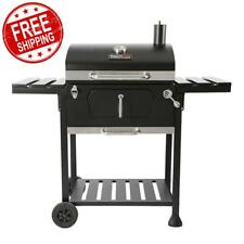 Charcoal Bbq Grill Royal Gourmet Black 2-Side Table Outdoor Cooking 23 Inch