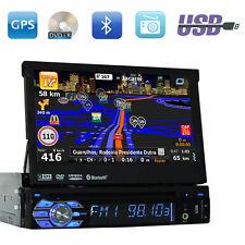 Touchscreen 1 Din In Dash Radio Car CD DVD Player GPS Stereo Bluetooth USB iPod