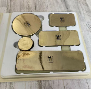 Nikken Kenko Promo Pads Magnetic Therapy Gold 7 Count Circle Rectangle Used