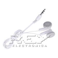 Auricular Cascos para MP3, MP4 Audio Auriculares Jack 3.5 mm  Blanco s206