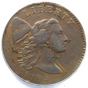 1794 S-29 ANACS VF 30 Details Liberty Cap Large Cent Coin 1c
