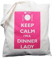 Keep Calm soy un cena Lady-algodón natural bolso de hombro