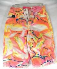 1980s Genetic Jeans Paint Splatter Airbrushed Buttonfly Women's Jean Shorts 28""