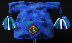 Winter Patterned Pom-Pom Child Fleece Ski and Outdoor Hat,Original Lizard,