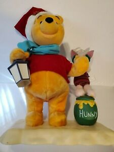 TELCO Motionette Disney Winnie The Pooh & Piglet Lighted Motion Christmas Figure