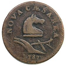 1787 38-Y R-3 New Jersey Colonial Copper Coin