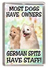 """German Spitz Dog Fridge Magnet """"....... German Spitz Have Staff!"""" - Starprint"""