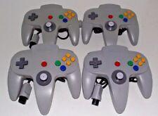 4 x Genuine Nintendo 64 N64 Grey Controller Refurbed Toggle (A Grade)