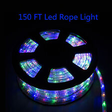 150 FT Colorful LED Rope Light Garden Waterproof Party 110V Outdoor Xmas Home