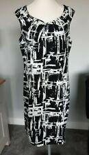 Tamaño 14 Negro Y Blanco Vestido inteligente por e-vie BNWOT