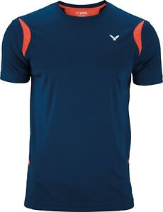 *NEW* Victor Unisex Function Perfect Dry T-Shirt  -  Navy/Coral