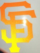SAN FRANCISCO GIANTS SF  LOGO REFLECTIVE ORANGE VINYL QUALITY DECALS STICKER