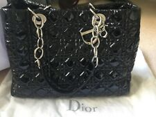New Authentic Christian Dior Black patent leather bag