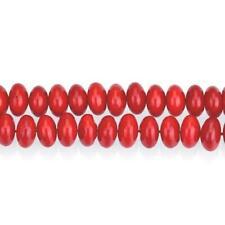 Streng 95+ Rood Koraal 4 x 6mm Rondel Kralen GS15872-4