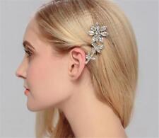 Accesorios para el cabello Nupcial Pelo De Cristal Rhinestone Boda Tocado 1 piezas Clavijas
