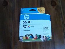 NEW HP 56 57 Black Tri-color Combo-Pack Ink Cartridge SEALED Free Shipping TD