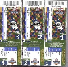 Lot of 3 2001 San Francisco Giants NLDS Division Series Phantom Full Tickets