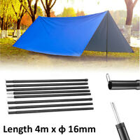 8Pcs Black Adjustable Tarp Shelter Tent Poles Bracket Set For Camping
