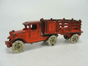1930's ARCADE CAST IRON FORD C TO C MOVING TRUCK & TRAILER TOY ORIGINAL VINTAGE